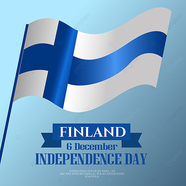 waving flag finland independence day