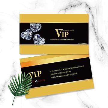 Черное золото визитка с бриллиантом Шаблон