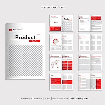 дизайн шаблона брошюры каталога продукции Шаблон