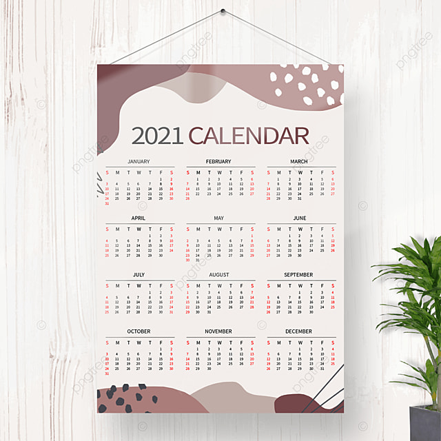 Kalender Gantung 2021 Indah Dari Nordic Templat untuk ...