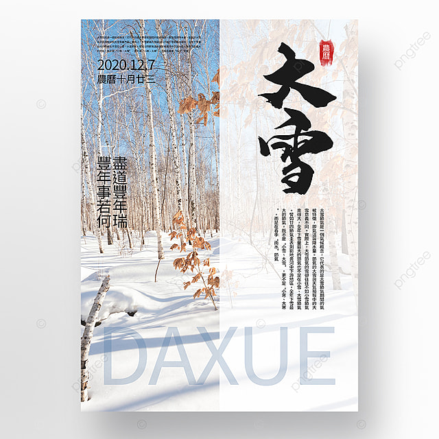 fresh and simple snow festival promotion poster template