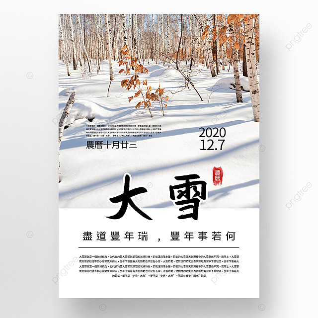 white simple heavy snow festival promotion poster template