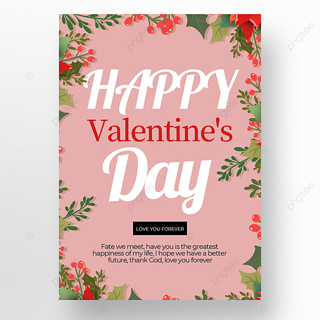 fashion creative valentines day poster template