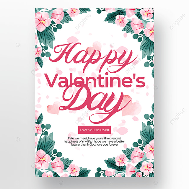 flower creative valentines day poster template