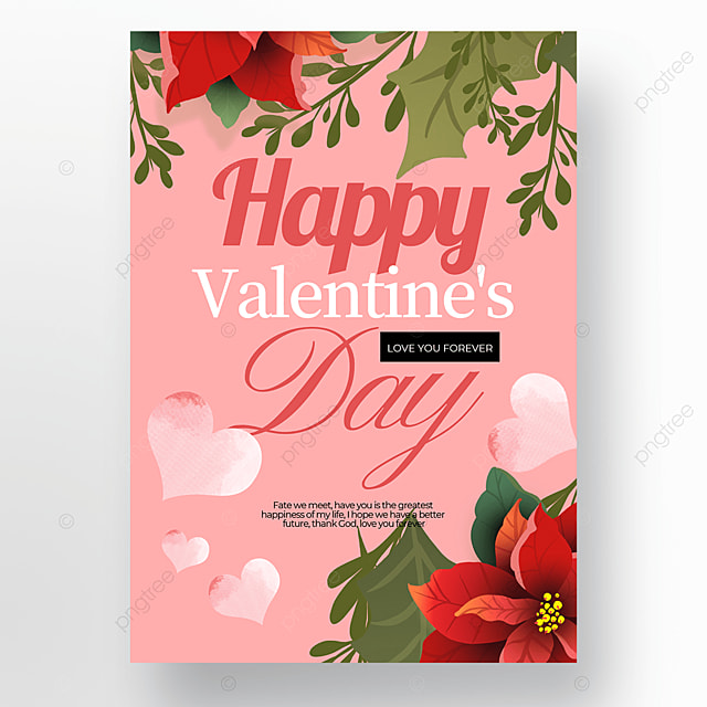 love flower element valentines day poster template