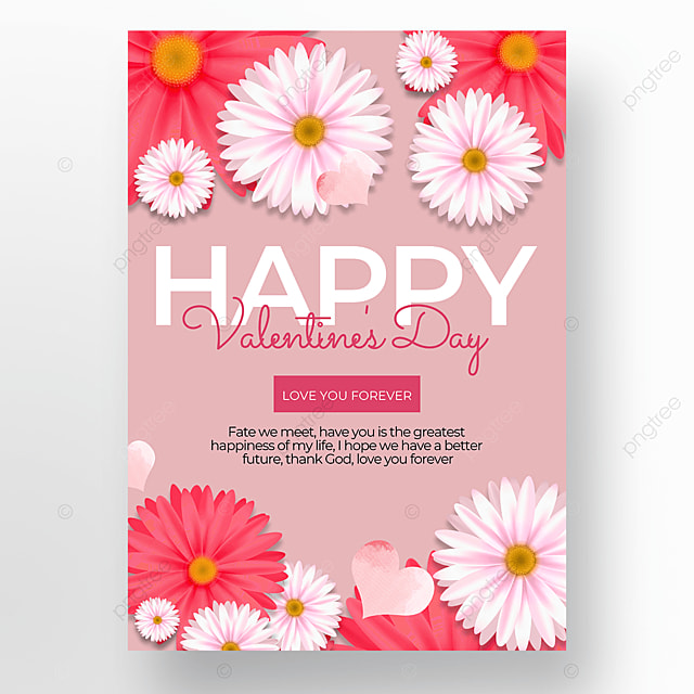 pink valentines day sale poster template