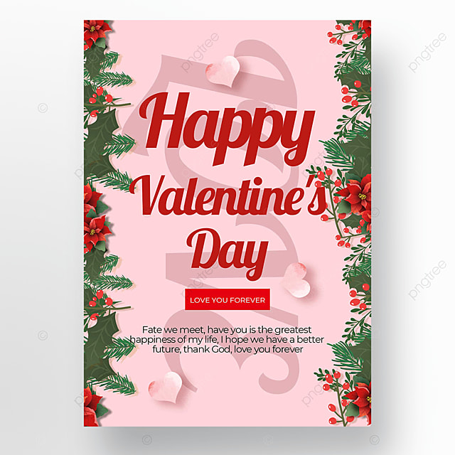 simple creative valentines day poster template