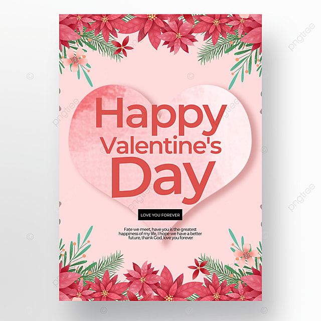 stylish valentines day poster template