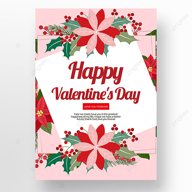 valentines day poster template on white background