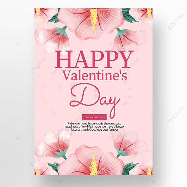 watercolor creative valentines day poster template
