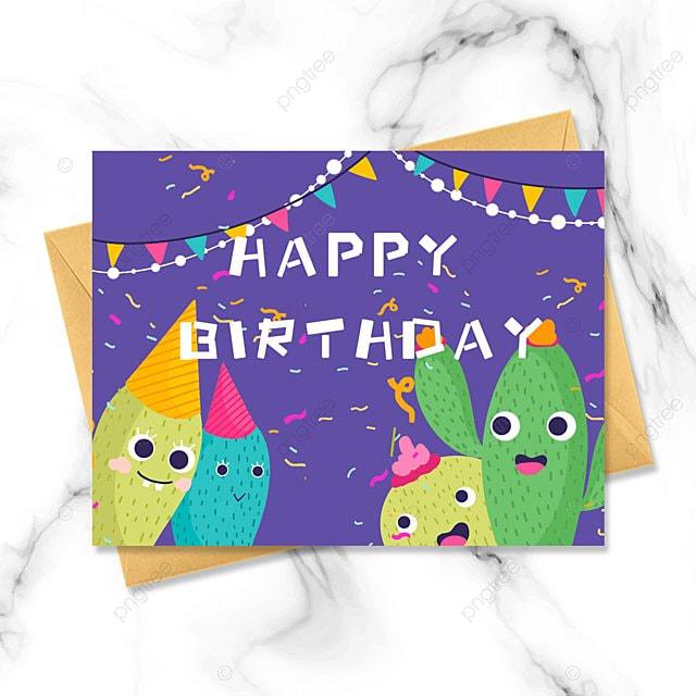 cartoon happy birthday card
