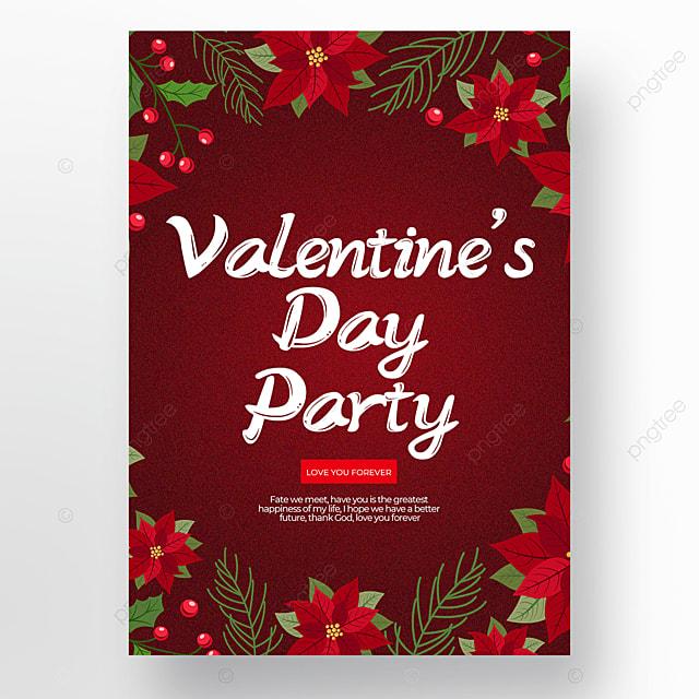 crimson creative valentines day poster template