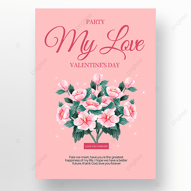 exquisite valentines day sale poster template