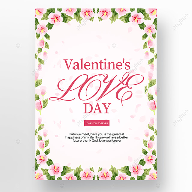garland white background creative valentines day poster template