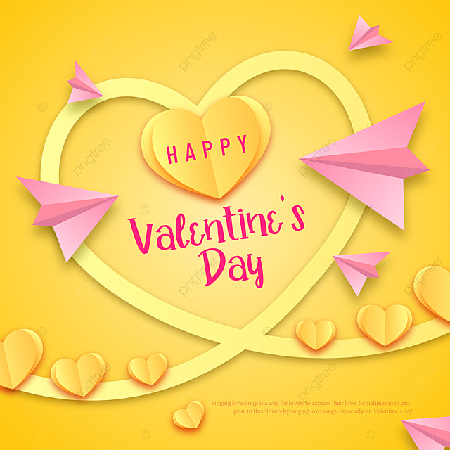 love paper cut style valentines day sns