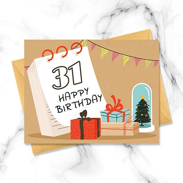 birthday hand drawn cartoon greeting card