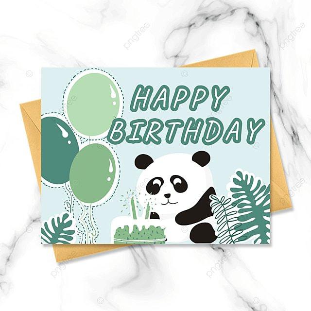 cute hand drawn birthday card
