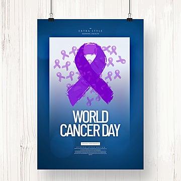 gambar warna yang mudah dan bergaya kanser dunia hari