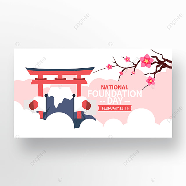 fashionable and exquisite japanese founding festival promotion banner