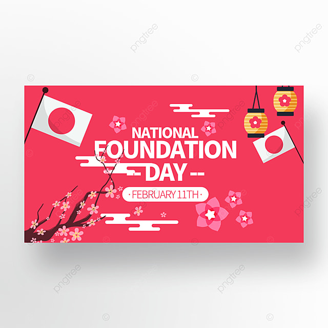 red creative japan founding festival promotion banner