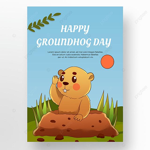 groundhog day poster cartoon
