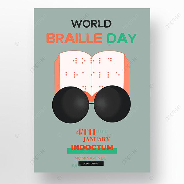 international braille festival holiday poster