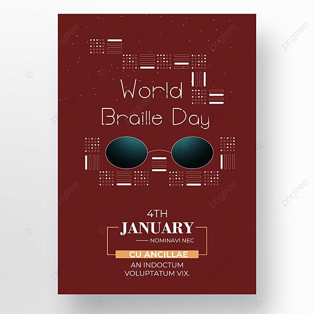 international braille festival red poster