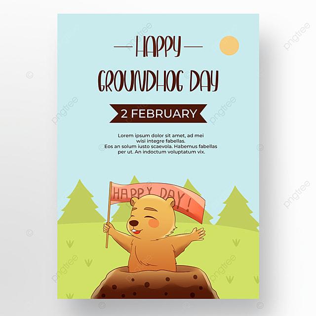 poster cartoon groundhog day