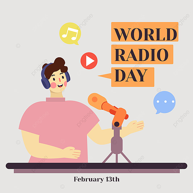 2021 world radio day social network advertisement