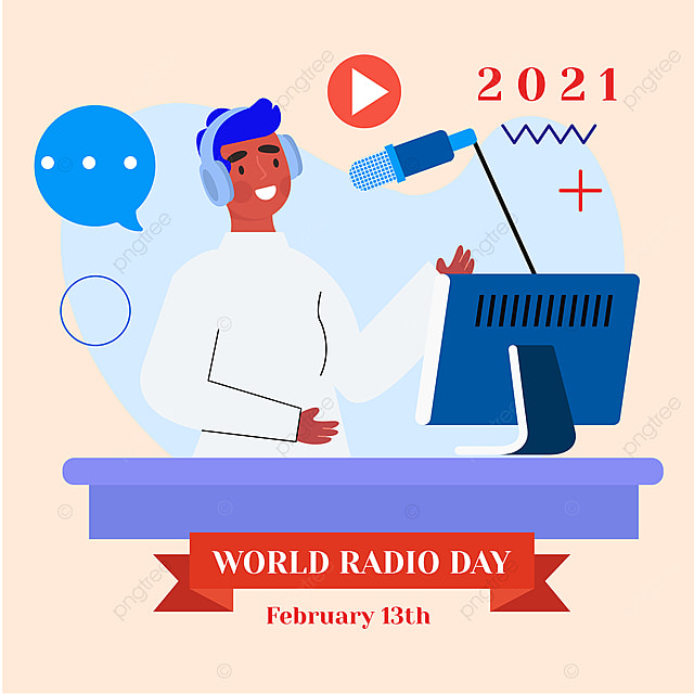 announcer of social network advertising 2021 world radio day