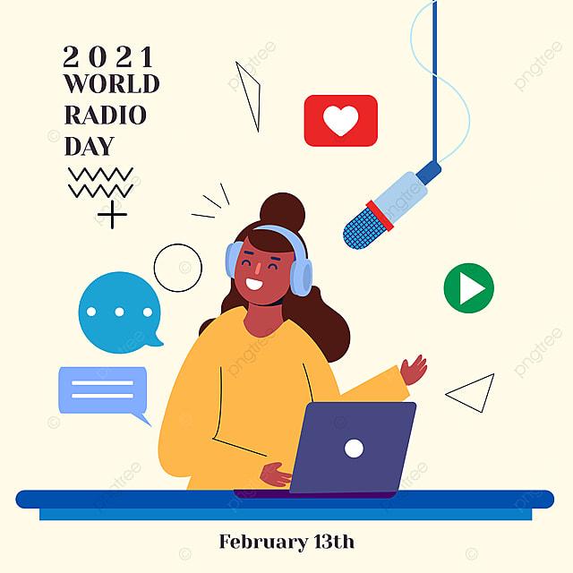 broadcast social network advertisements on world radio day 2021