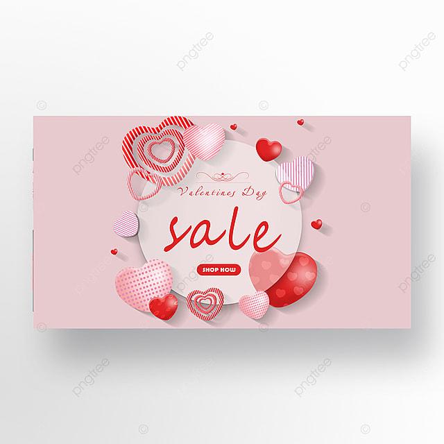 pink background romantic valentines day love balloon web banner
