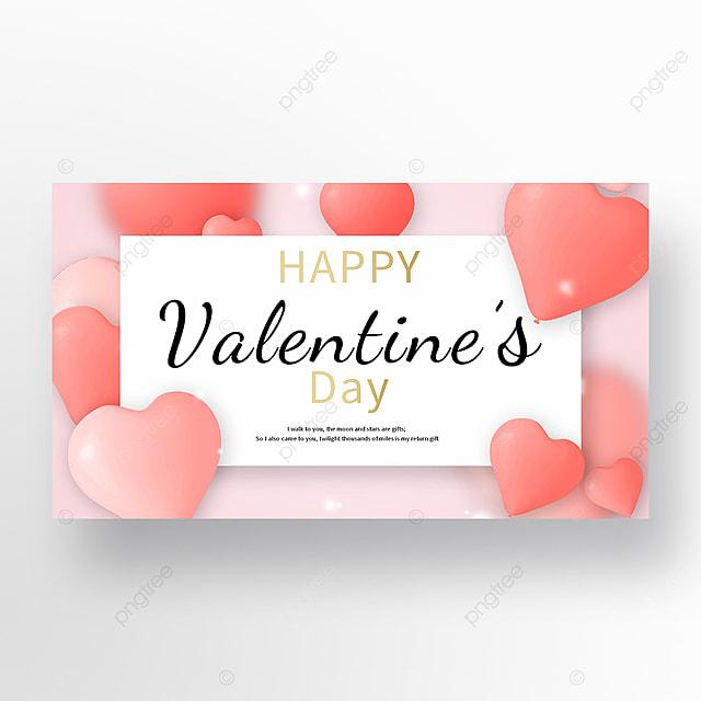 pink romantic valentine web banner