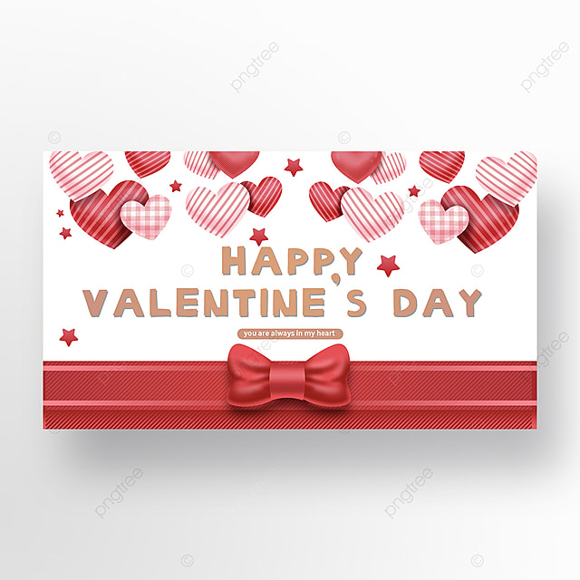 romantic valentines day bow love network promotion banner