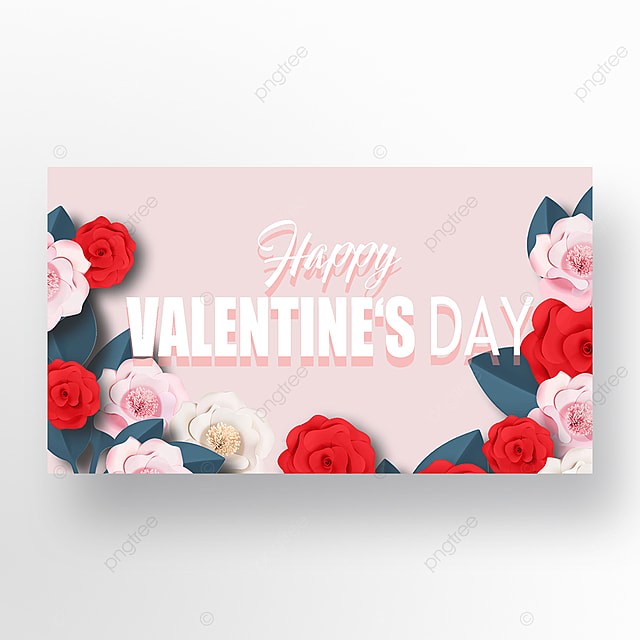 romantic valentines day flowers web banner