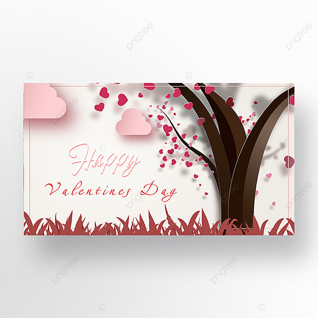 valentines day romantic silhouette scene web banner