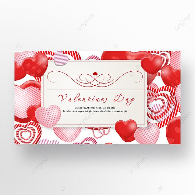 web banner for valentines day love romantic envelope