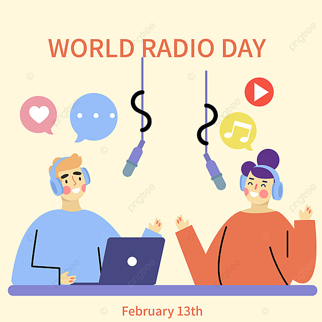 world broadcasting day promotion social network advertisement