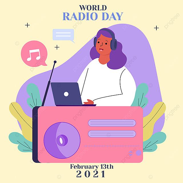 world radio day announcer social network advertisement