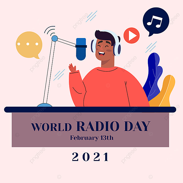 advertisement on social networks for the 2021 world radio festival