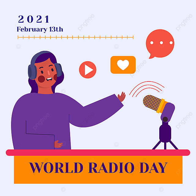 social network advertisement for the world radio festival in 2021