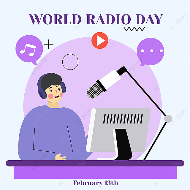 world broadcasting day online social advertisement 2021