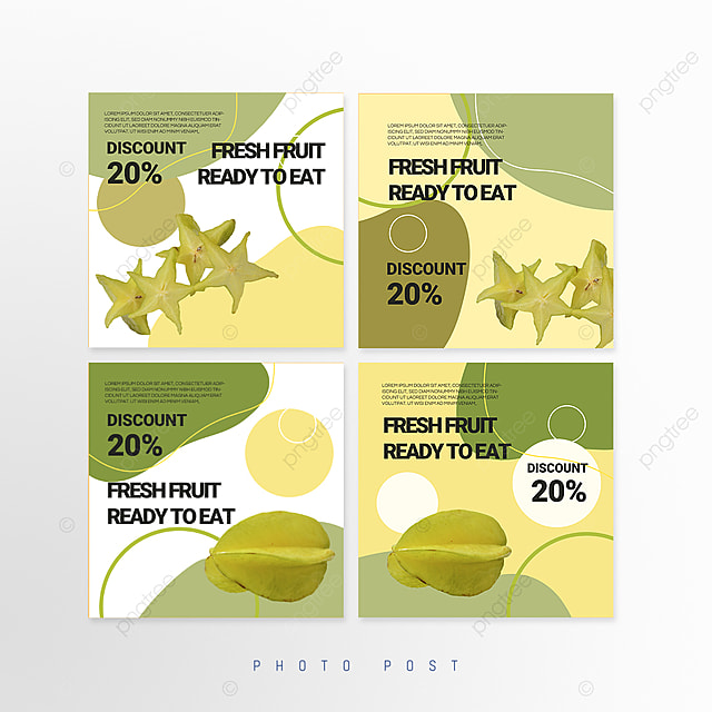 green simple fresh splicing style fruit promotion social media promotion template