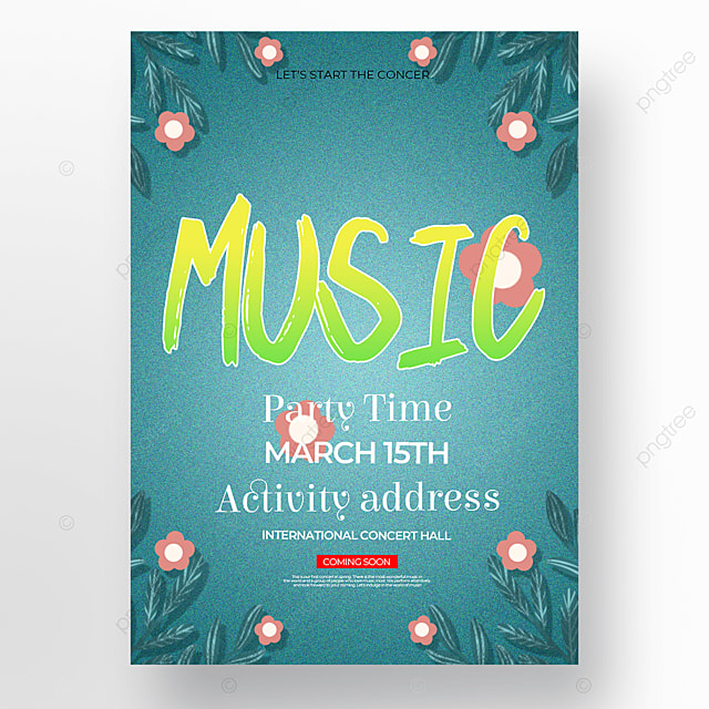 concise and creative spring concert poster
