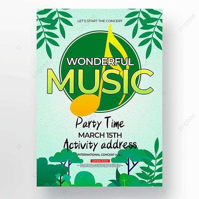 creative blue background spring concert poster