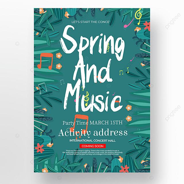 creative exquisite spring concert poster