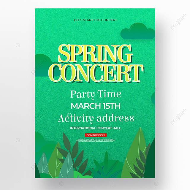 creative green background spring concert poster