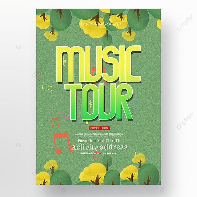 creative spring concert poster