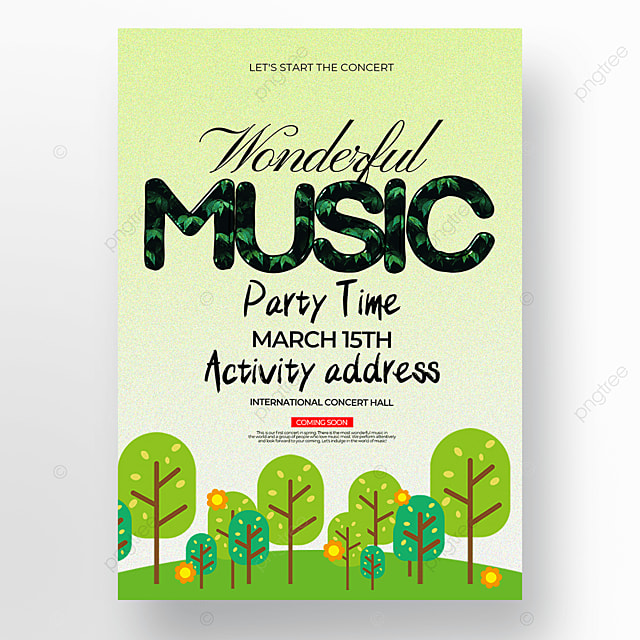 cute style spring concert poster