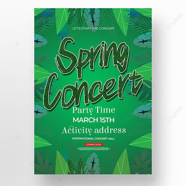 dark green background spring concert poster